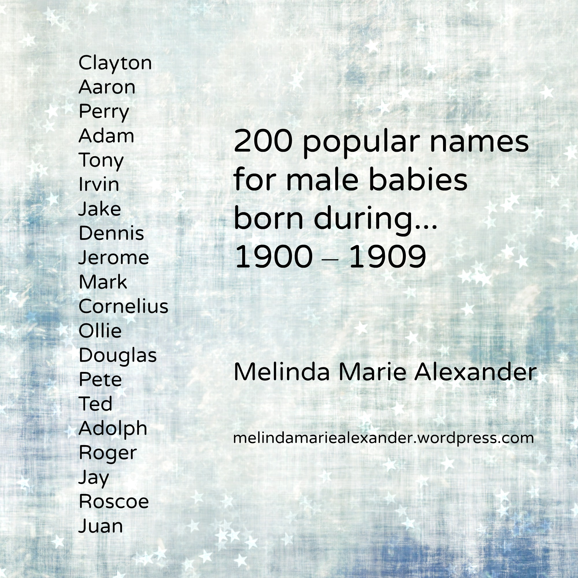 Old fashioned boy dog names