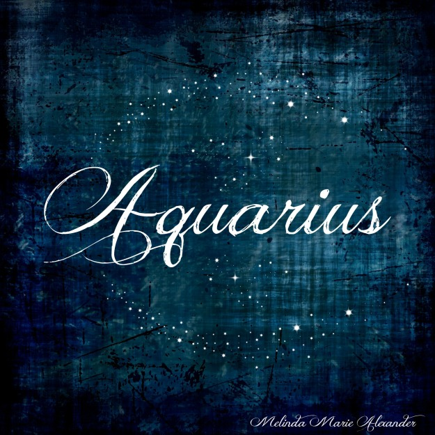 Aquarius with text